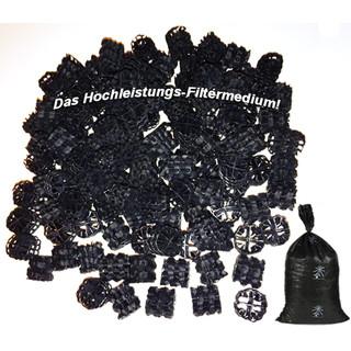 Hel-x 17 kll schwarz 100 Liter Hochwertiges Filtermaterial Koi Teich Biofilter